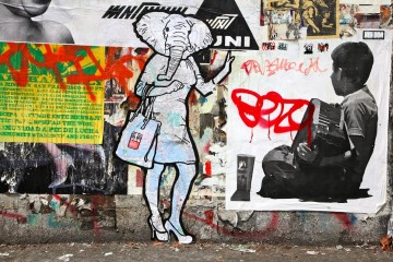 elpehant graffiti