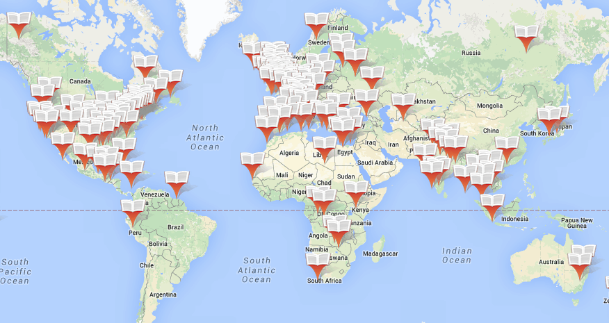 A Google Map of All Your Favorite Books – Mapping Travel Route